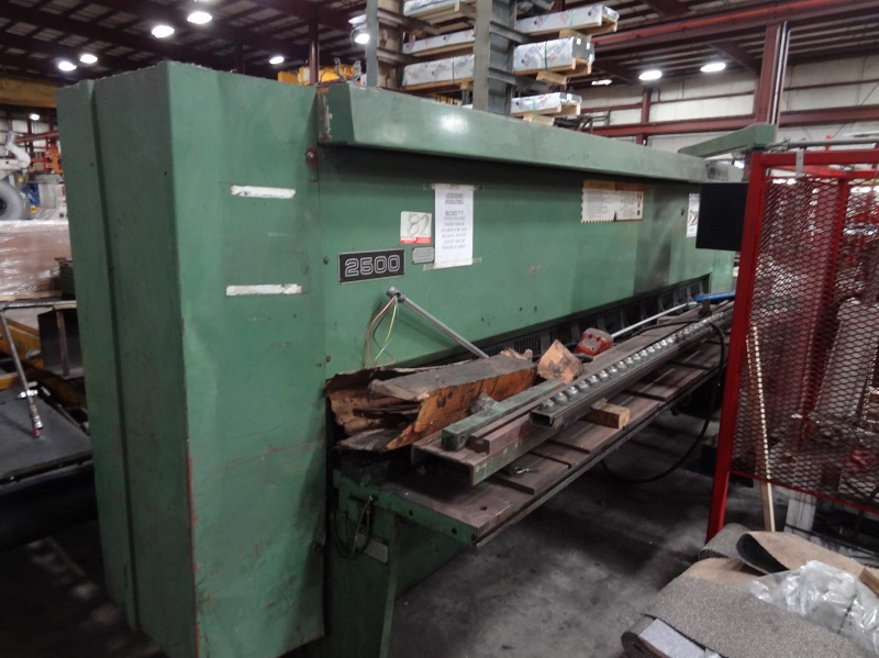 "12' x 1/4"" Cincinnati Model 2500 Mechanical Squaring Shear"