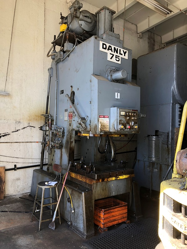 75 Ton Danly OBI Press