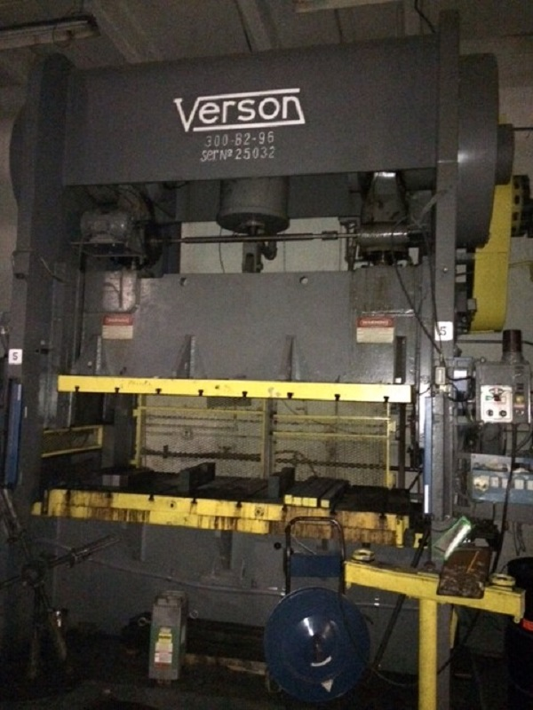 300 Ton Verson 300-B2-96 Straight Side Press