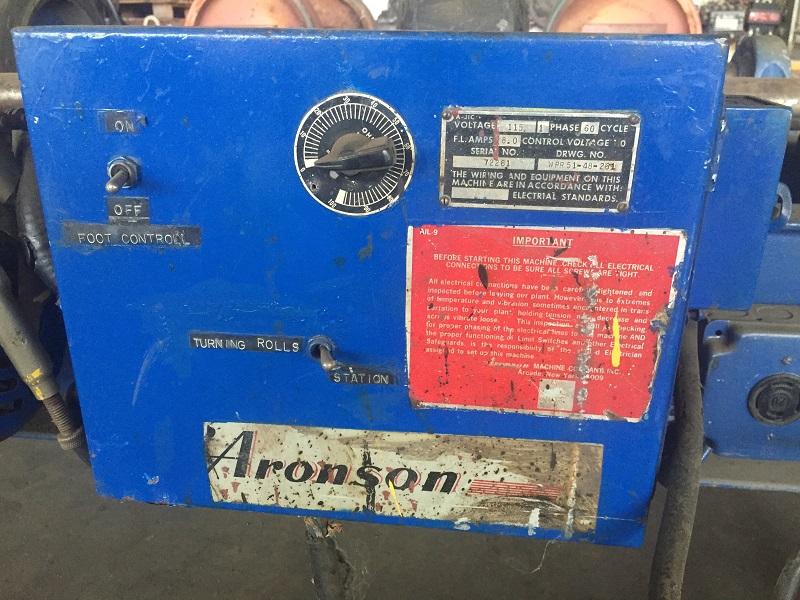 Aronson 5,000 lb. Tank Turning Rolls