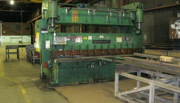 """12' (144"""") x 5/8"""" Cincinnati Hydraulic Shear"""