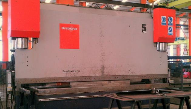 "196"" (5000mm) x 500 Ton Beyeler Hydraulic Press Brake"