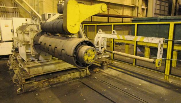 """66"""" x .134"""" x 60,000# Pro-Eco Triple Injector Head with Turret Recoiler Loop Slitting Line"""