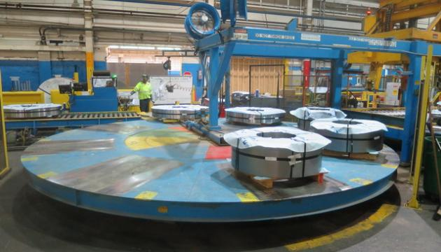 """72"""" x 15,000# Avon Engineering Coil Packaging Line NEW 2004"""