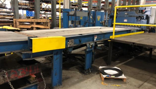 """60"""" x  .188"""" Herr Voss Drop Stacker with Blower and Side Discharge"""