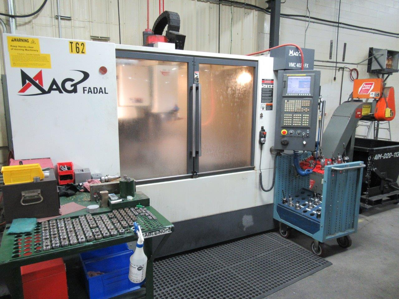 Fadal VMC-4020FXOI Vertical Machining Center With Fanuc Control ( Only 7824 Cutting Hours)