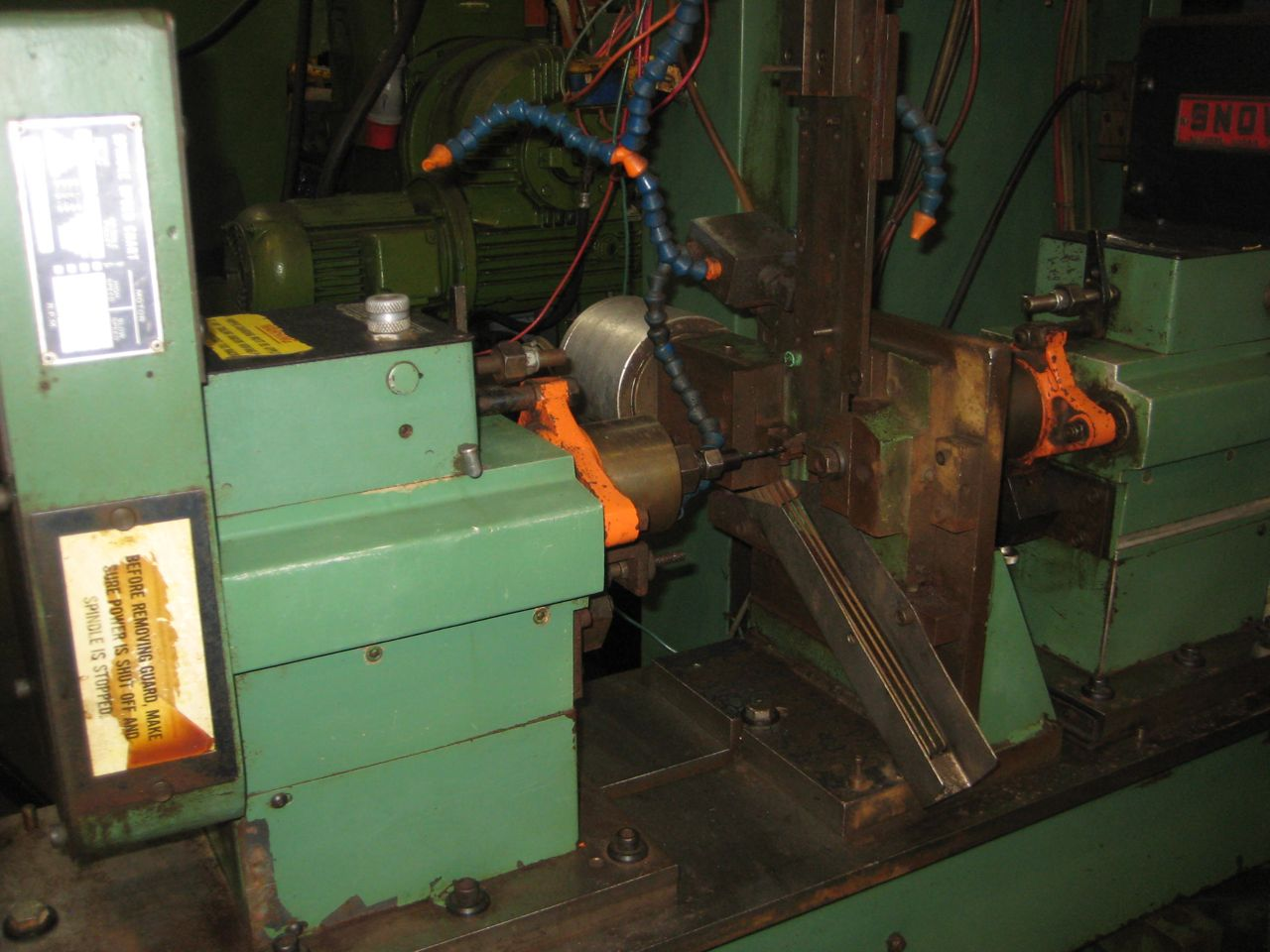 Snow Model 2SPHD01 Double Spindle Horizontal Drilling Machine