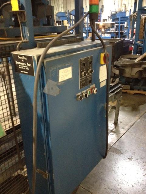 One Used SortPac by Tectonics Inc., 2 lane roll sorter machine
