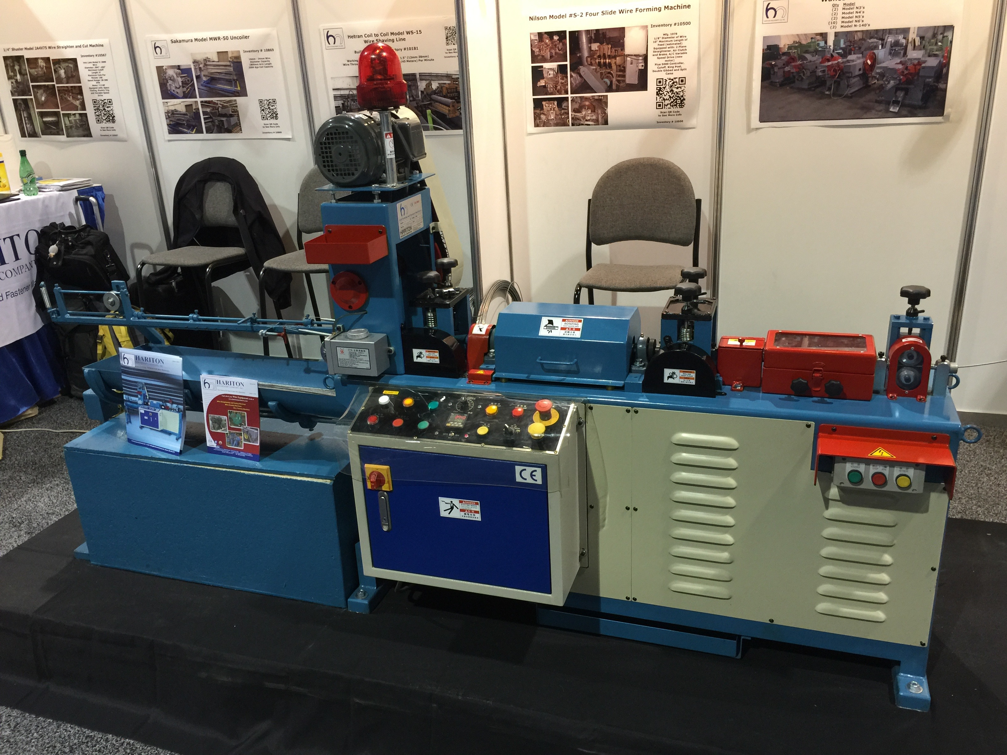 Hariton Model WSC-102A Automatic Wire Straightening and Cutting Machine