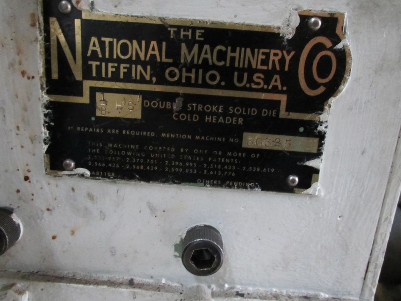 "1/8"" National High Speed DSSD Cold Header"