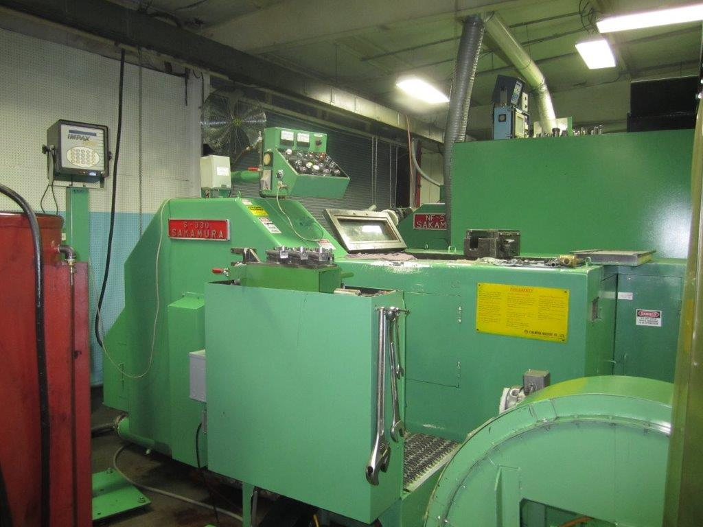 Sakamura Model S-330 3 Die Progressive Cold Forming Machine