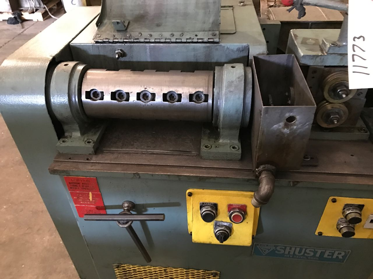 "1/4"" Shuster Model 1AVS5 Wire Straightening & Cutoff Machine"