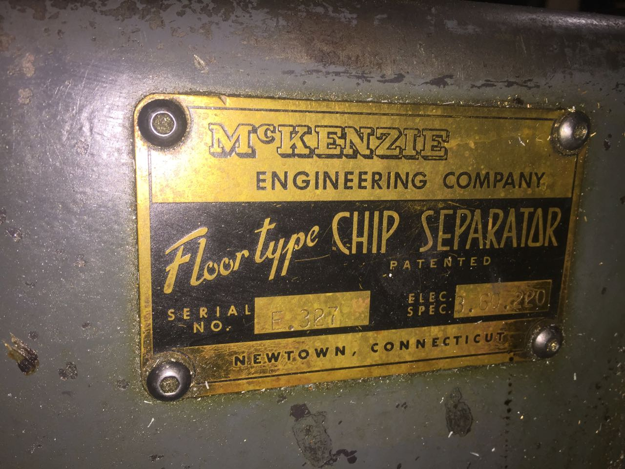 McKenzie  Chip Seperator Floor Type Model E