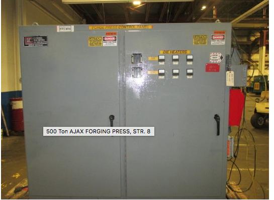 "Ajax 500 Ton Forging Press, Str 8"""