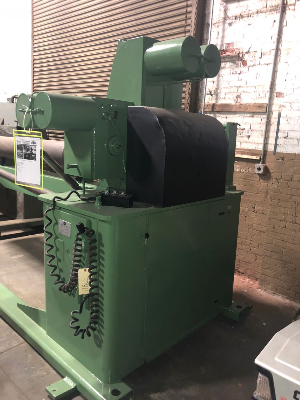 One Used RMG Model 2024-02 Powered Uncoiler