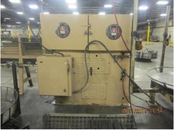"""3/8"""" Lewis Model 3SV8 Wire Straighten and Cutoff Machine"""