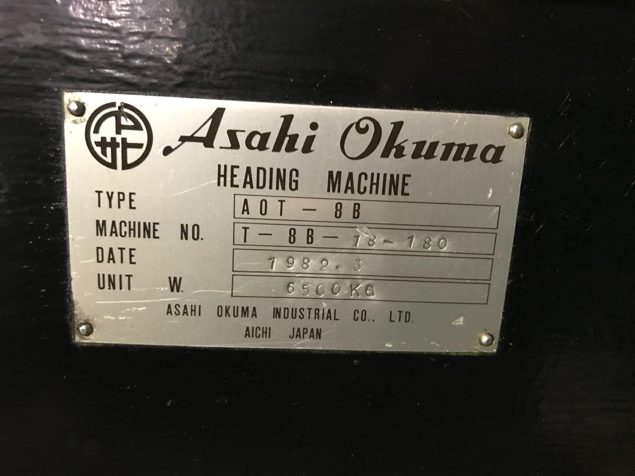 "5/16"" Asahi Okuma Model AOT-8B High Speed 2 Die 2 Blow Cold Header"