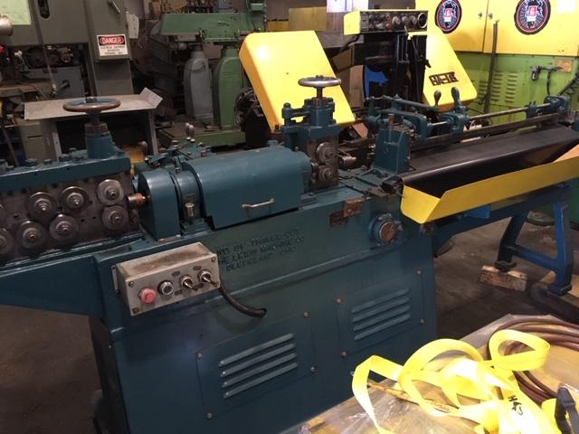 """3/16"""" Lewis Model 3F WireStraighten and Cutoff Machine"""