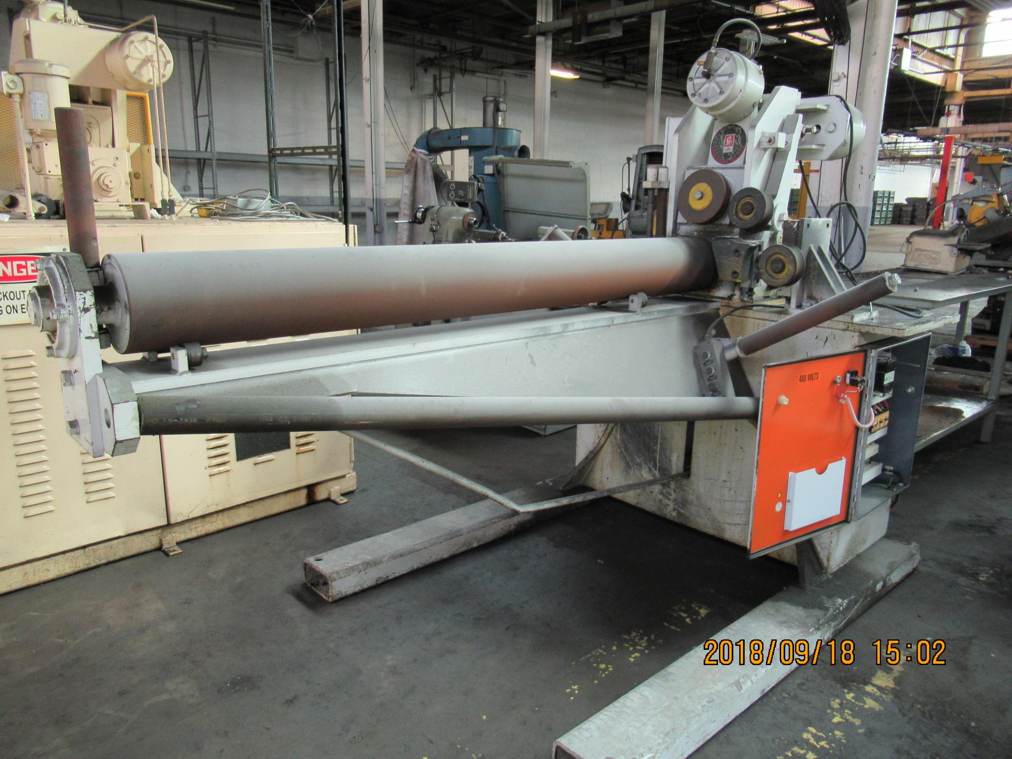 "1-1/4"" Fastener Engineers Model PF-6000-08 Powered Uncoiler"