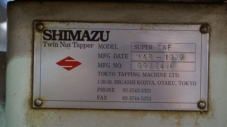 """3/8"""" Shimazu Model 3NF Two Spindle Nut Tapper"""