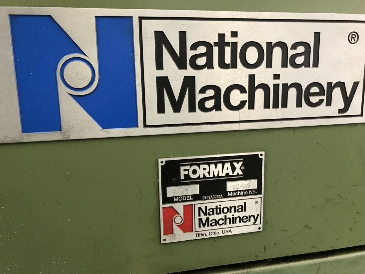 "5/8"" National Formax FX2000 Model FX53L 3 Die Progressive Cold Former"