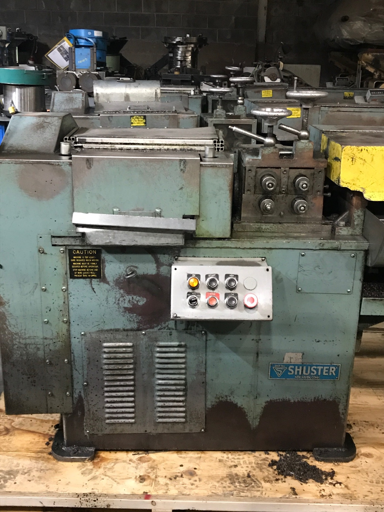 "5/16"" Shuster Model 2A4V Wire Straighten and Cutoff Machine"