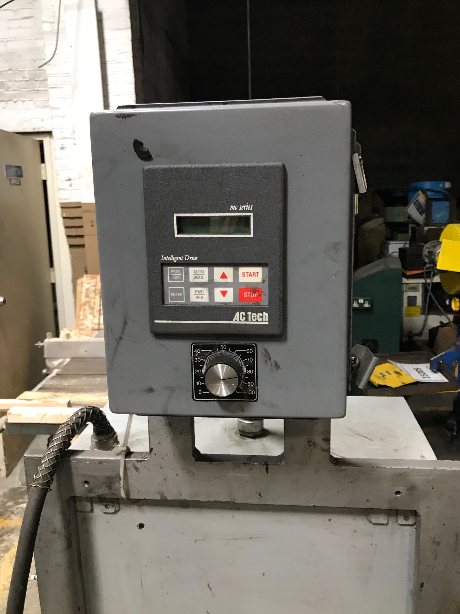 "1/4"" Shuster Model 2A4EV75L Wire Straighten and Cutoff Machine"