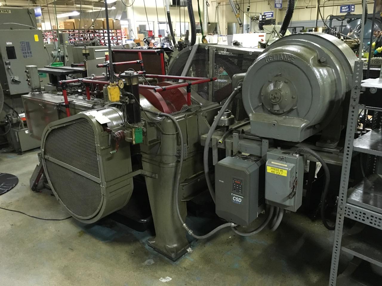 "One used 1/2"" Waterbury Farrel Model #3 Bolt Head Trimming Machine"