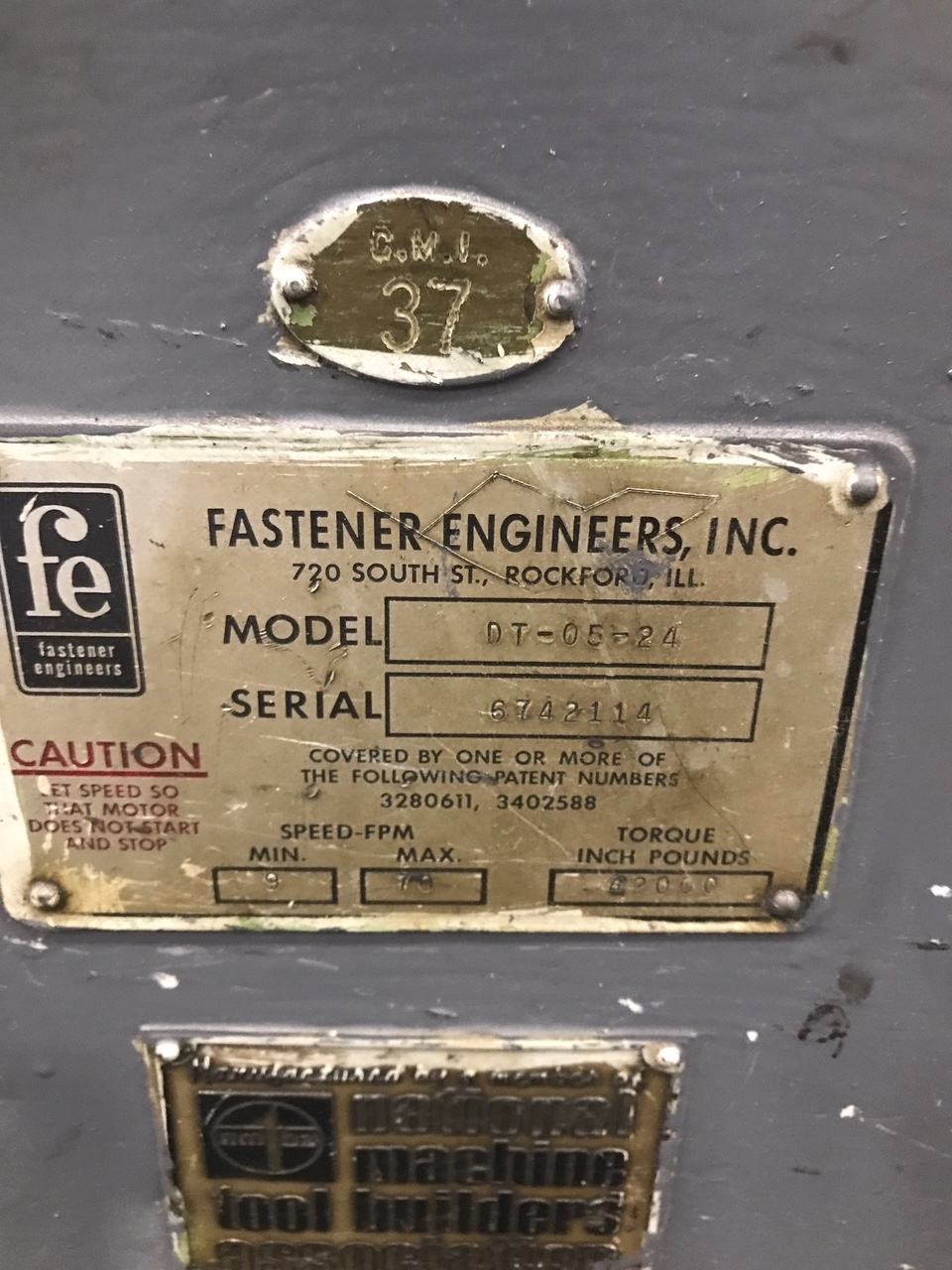 "5/16"" Fastener Engineers Model DT-05-24 In Line Wire Drawer"