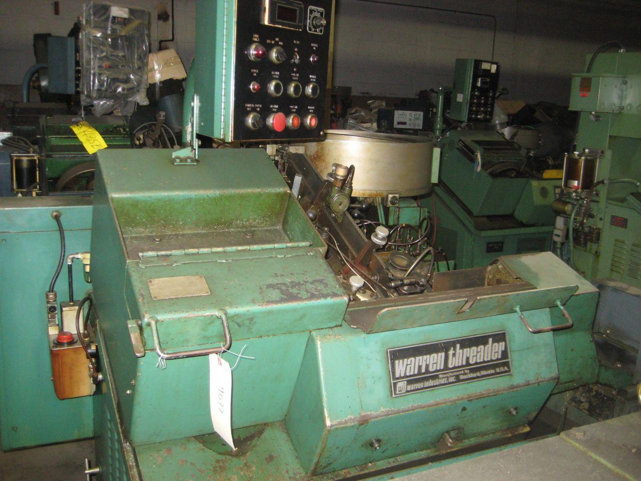 "Used 1/4"" Warren Model WT-1000 High Speed Flat Die Thread Roller"