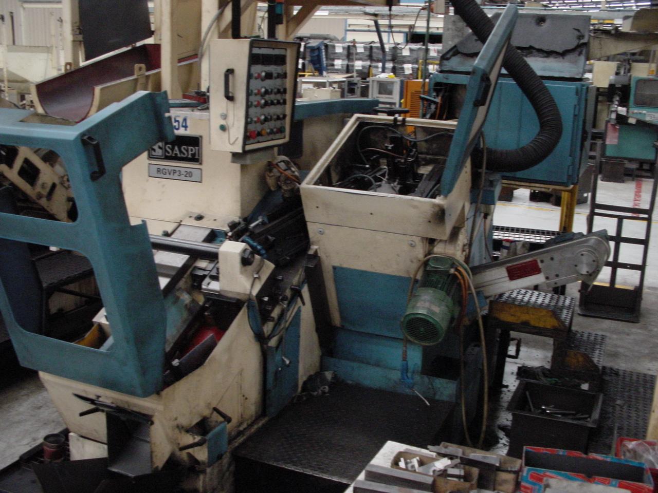 Saspi Model RGVP 3-20 Incline Automatic Thread Roller