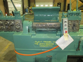 "3/8"" Lewis Model 8-F Wire Straightening and Cutting Machine"