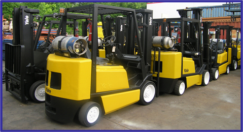 USED, 5,000 LBS. YALE MODEL GCO50 FORKLIFT
