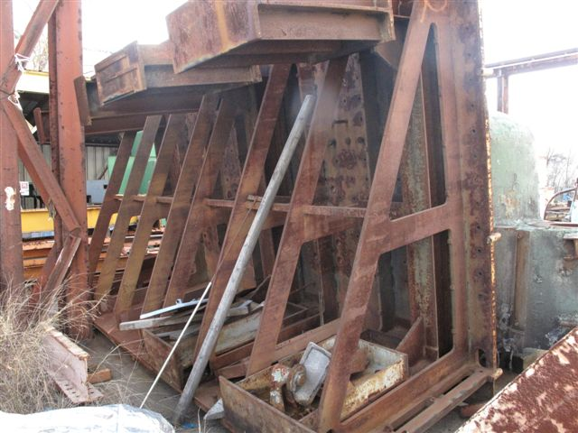 "USED, ANGLE PLATE, 160"" WIDE X 120"" HIGH X 62"" DEEP"