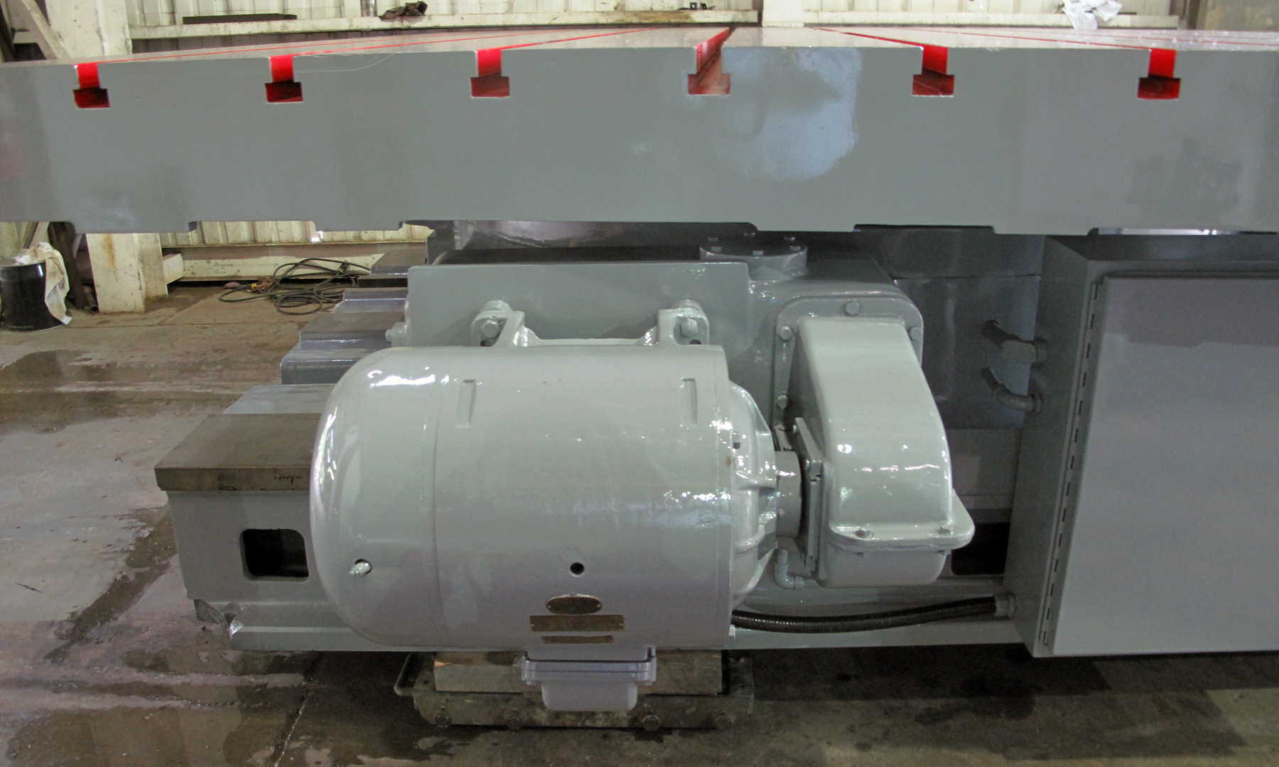 """USED, 120"""" X 120"""" GIDDINGS & LEWIS POWER ROTARY TABLE WITH INFEED"""