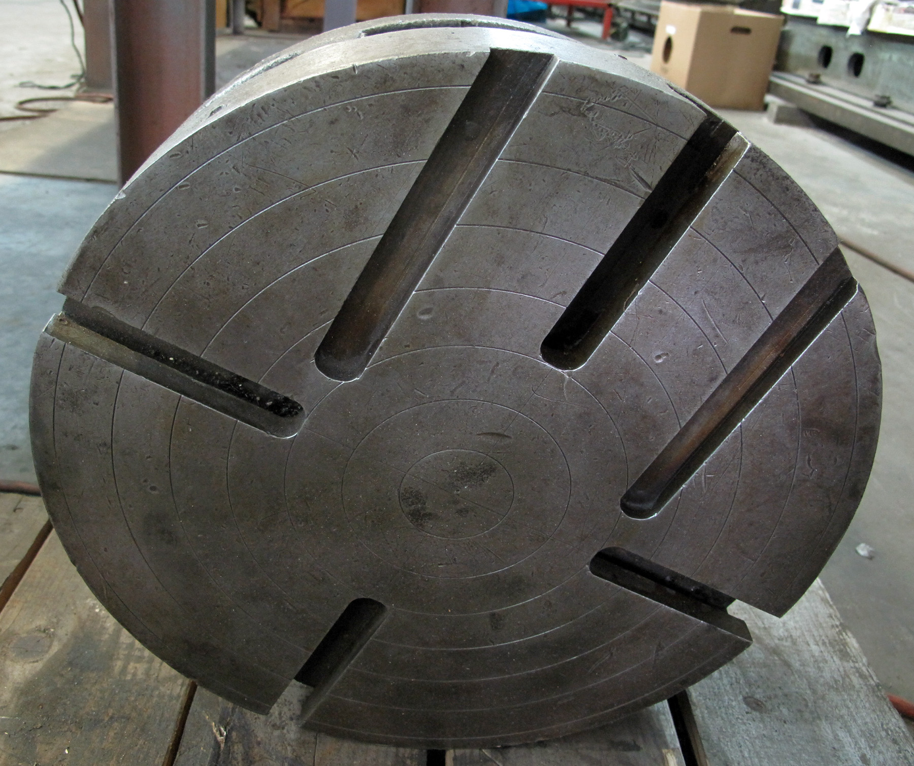 """USED, 15"""" DIAMETER FACE PLATE, SOLID FACE, SPECIAL MOUNT"""