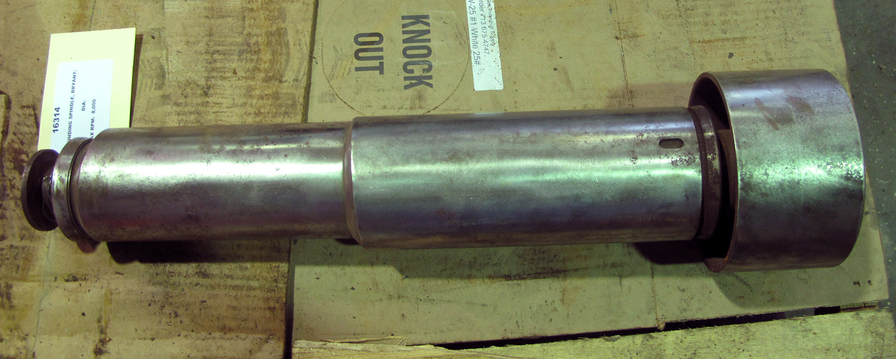 USED, GRINDING SPINDLE, BRYANT MODEL 185 G-18168