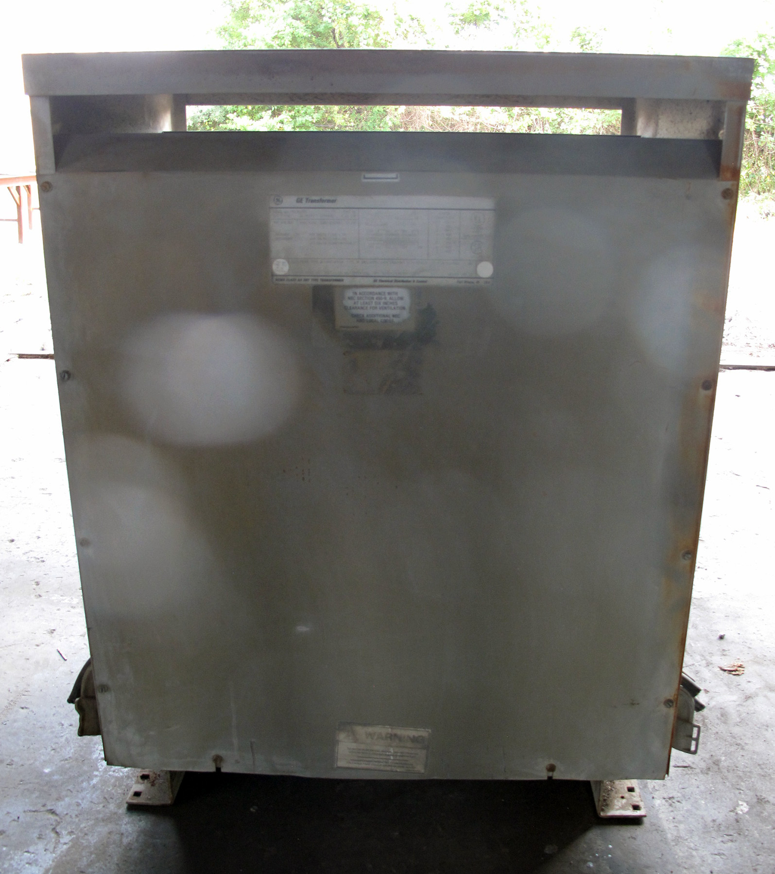 PRE-OWNED, 112.5 KVA GE MODEL 9T23B3855 TRANSFORMER, PRIMARY 480, SECONDARY 480/277, MULTI TAP