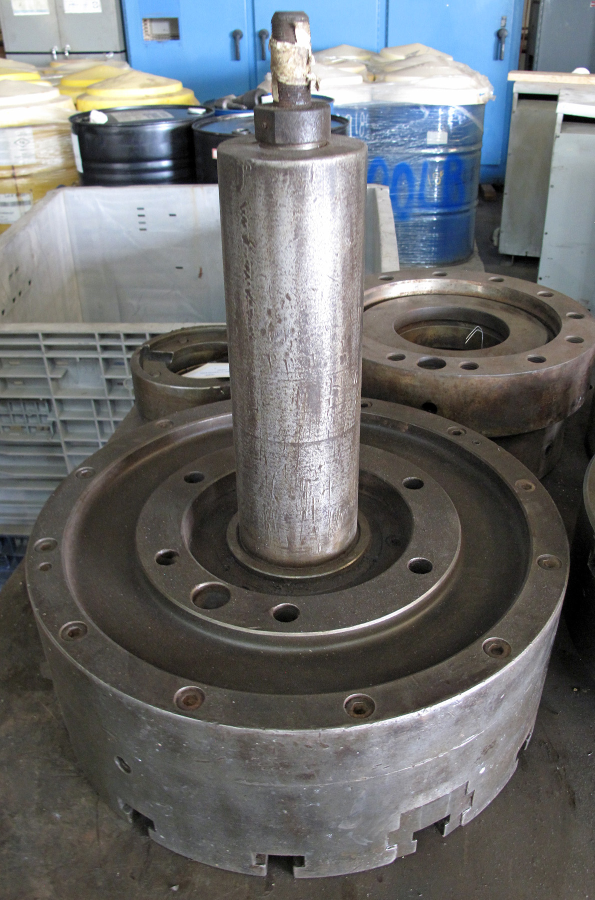 "USED, 18"" 3-JAW AIR CHUCK"