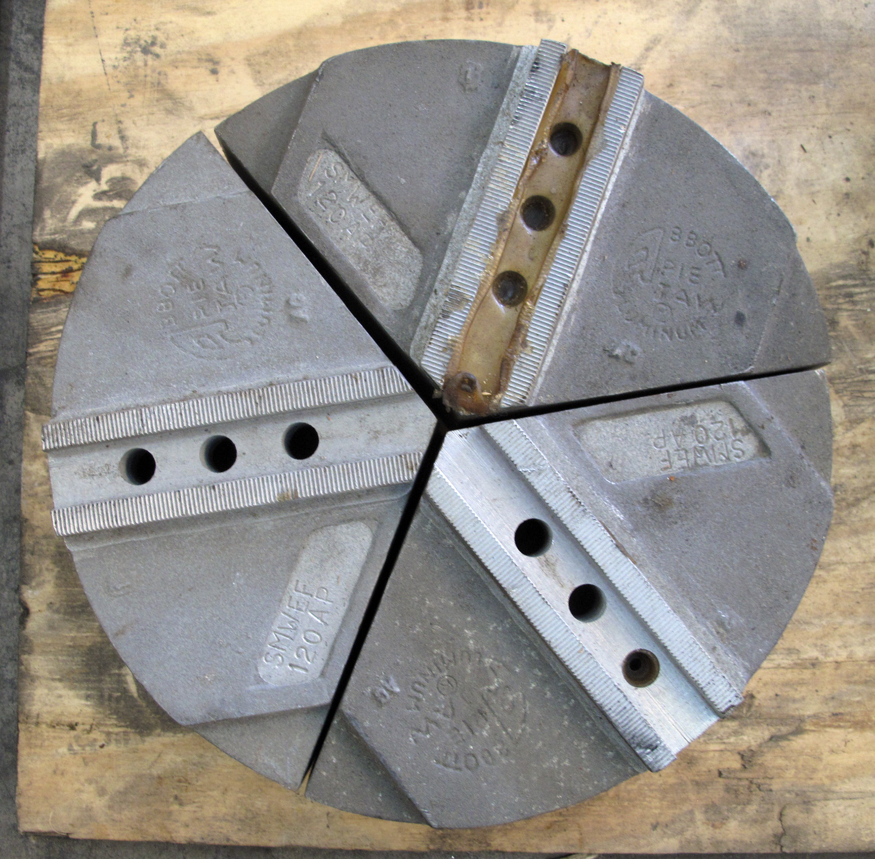 """NEW, 11-1/2"""" ALUMINUM PIE JAWS, 3 SECTIONS"""