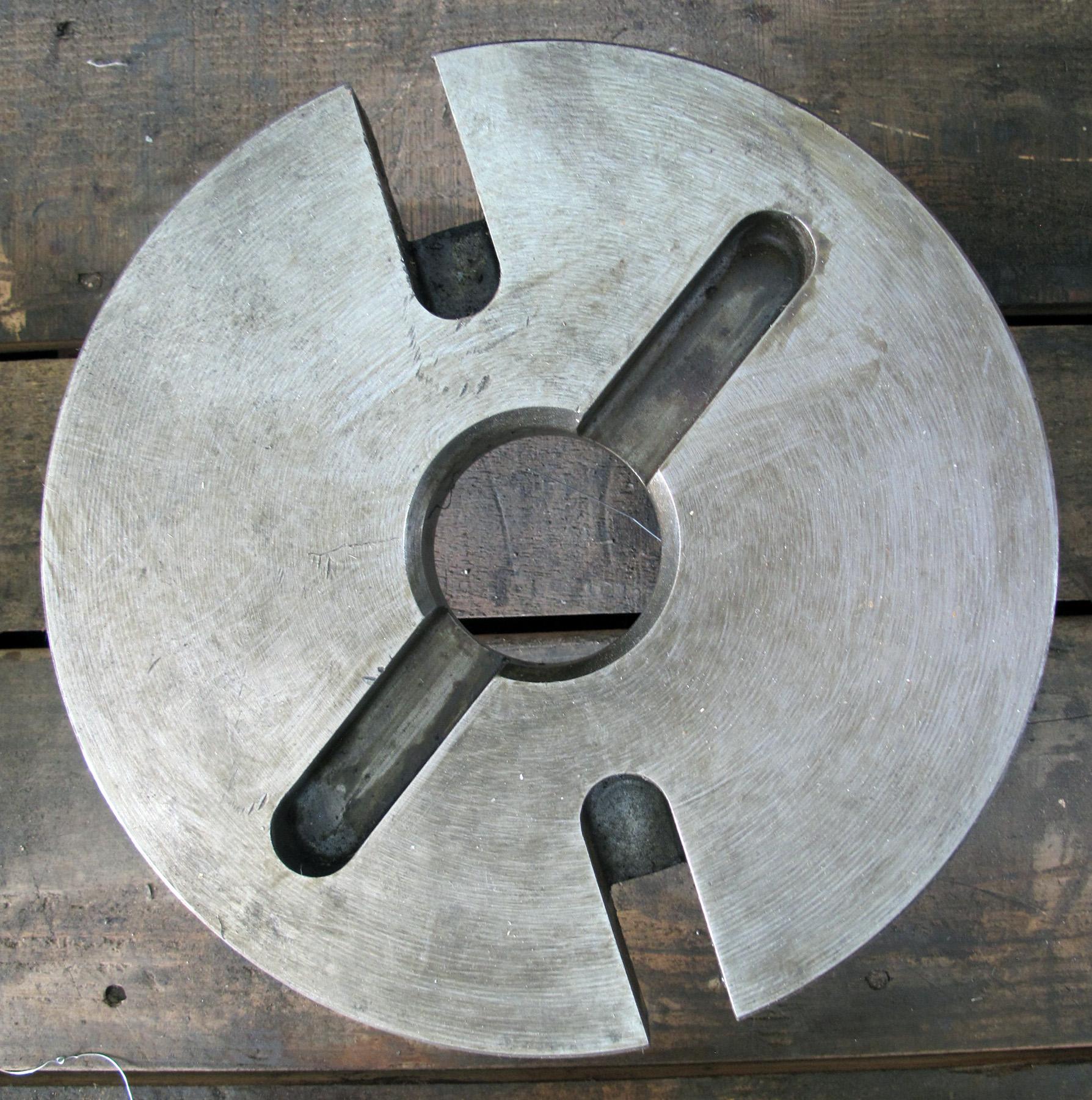 "USED, 10"" DIAMETER FACE PLATE, D-6 CAM LOCK"