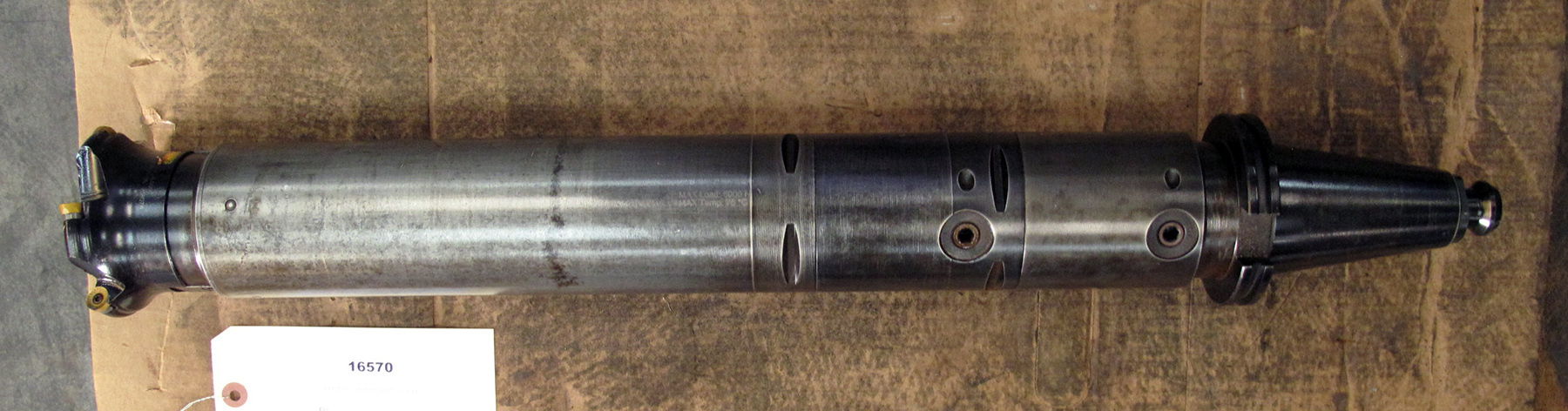 "USED, 3-1/2"" X 20"" EXTENDABLE FACE MILL HOLDER WITH 4"" FACE MILL, CAT 50"