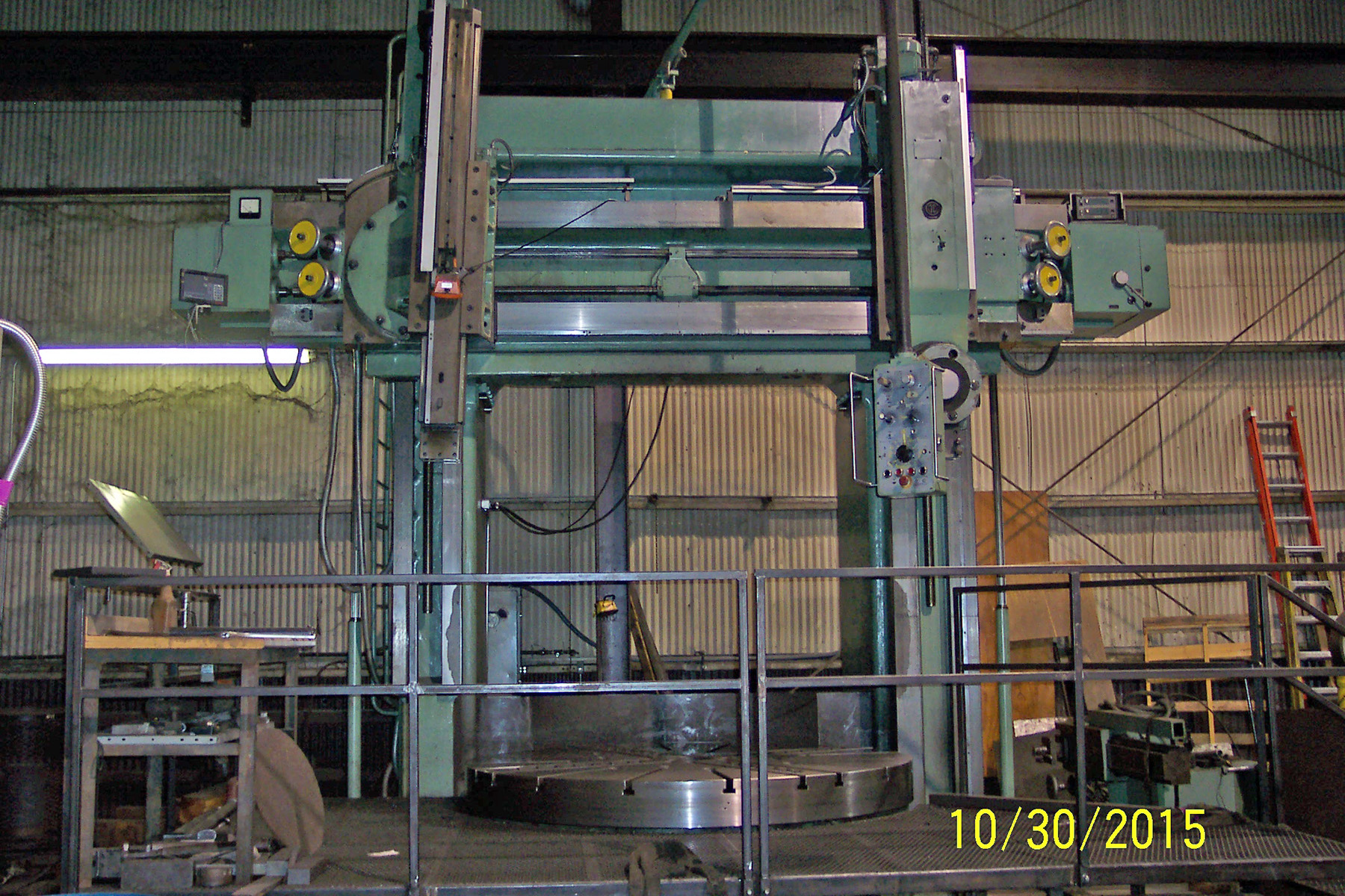 "USED, 88"" STANKO MODEL 1525 VERTICAL BORING MILL"