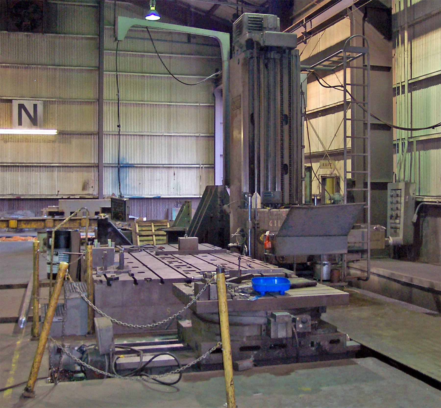 USED, CINCINNATI GILBERT SERIES J FLOOR TYPE HORIZONTAL BORING MILL