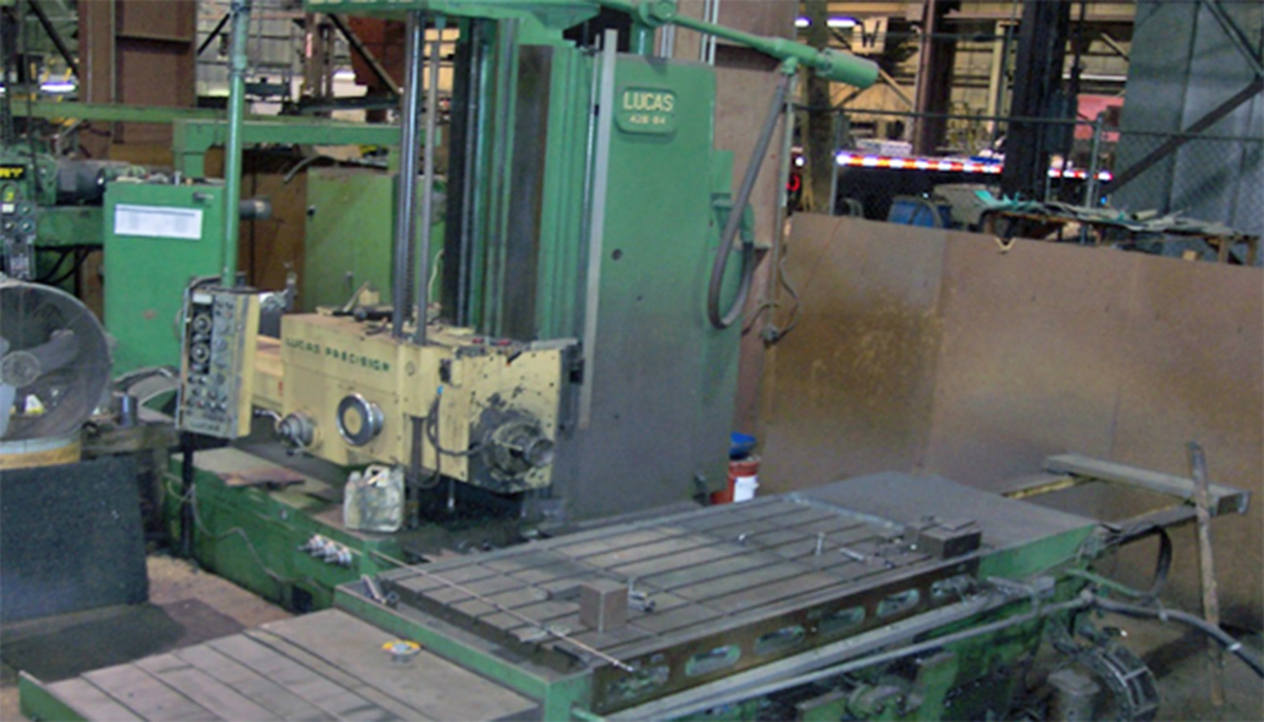 "USED, 4"" LUCAS MODEL 42B-84 TABLE TYPE HORIZONTAL BORING MILL"
