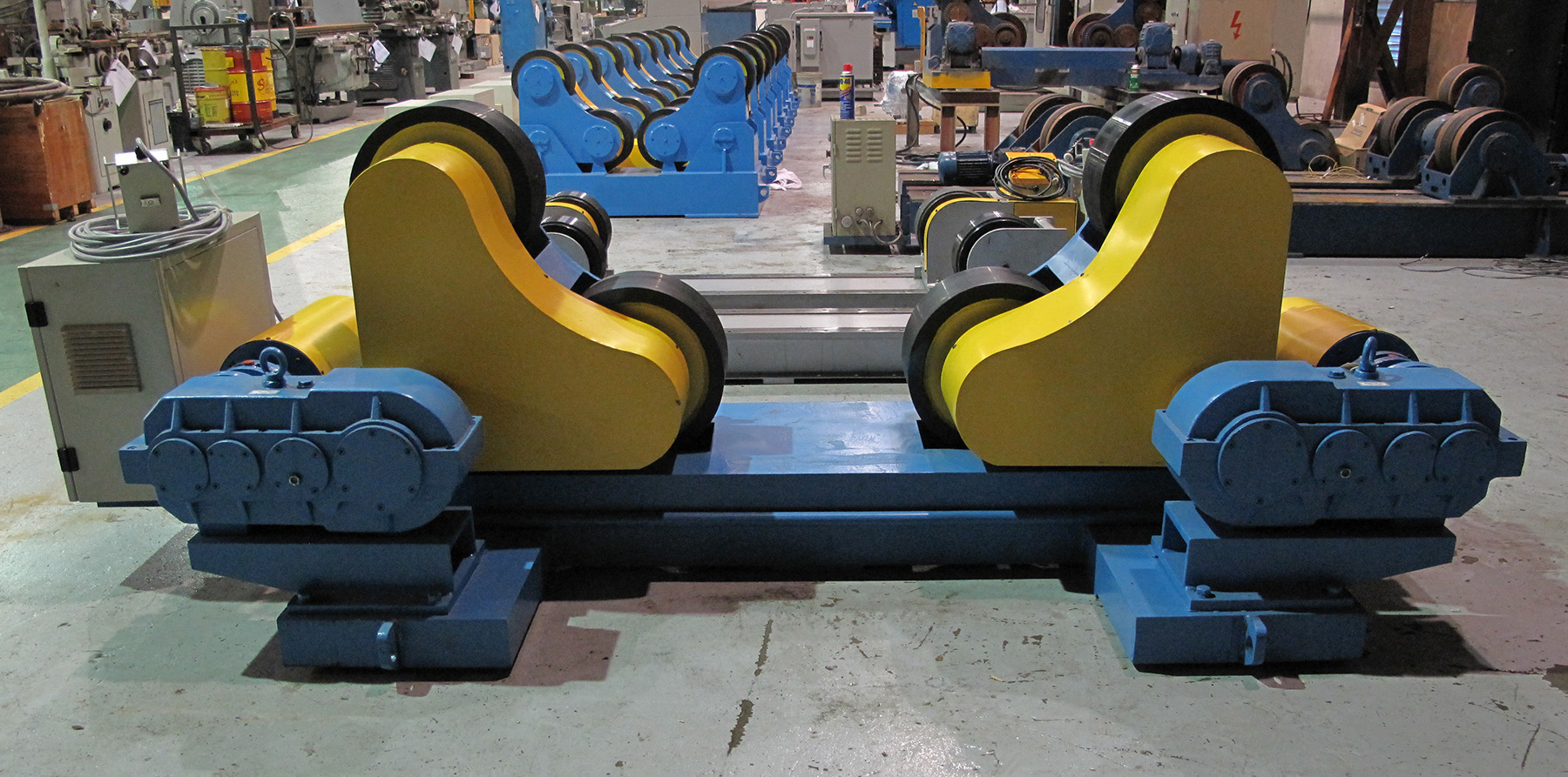 NEW, 60 TON STEADY-WELD MODEL R60-SA SELF-ADJUSTING TURNING ROLLS