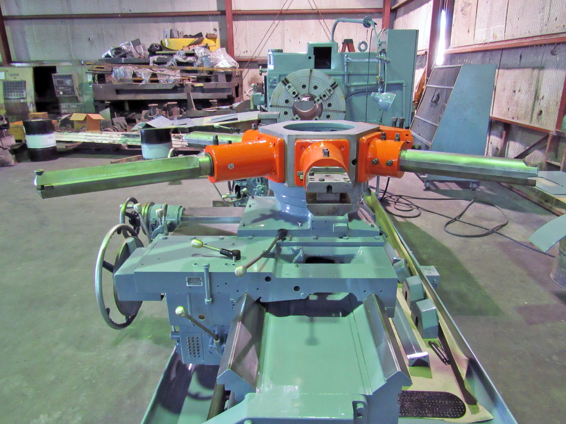 USED, 5A WARNER & SWASEY MODEL M-3600 SQUARE HEAD SADDLE TYPE TURRET LATHE WITH CROSS SLIDING REAR TURRET