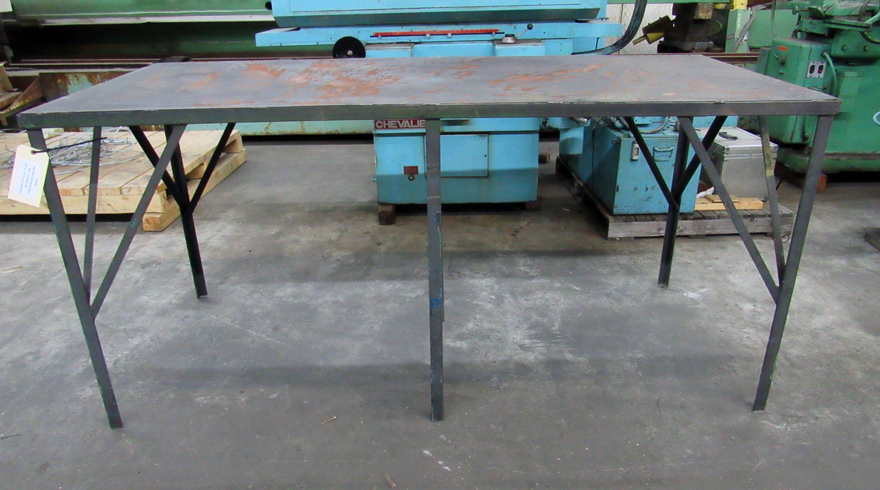 USED, HEAVY DUTY METAL TABLE