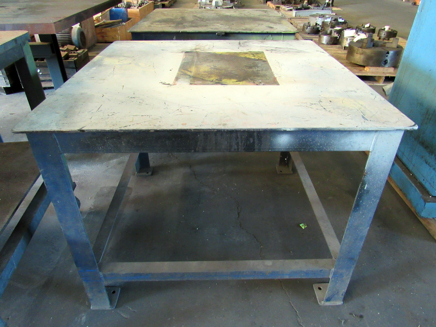 "USED, 42"" X 42"" HEAVY DUTY METAL TABLE"