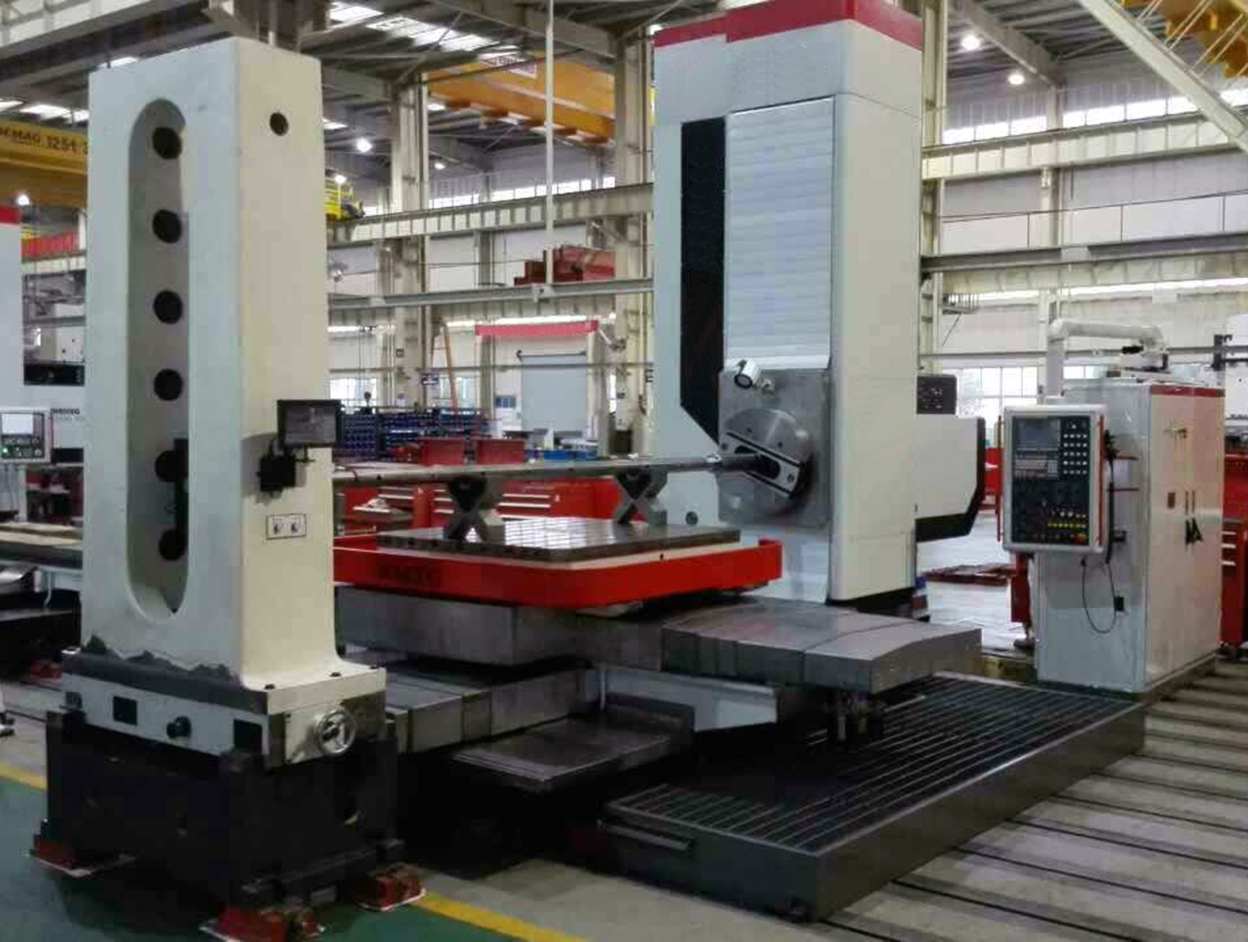 "NEW, 4"" MANUAL + FULL CNC HORIZONTAL BORING MILL"
